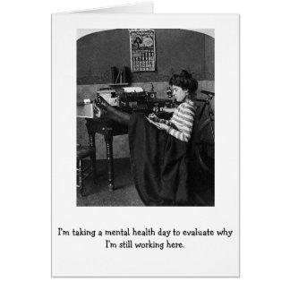 Cartes Jour de santé mentale de travail,