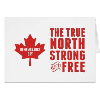 Cartes Jour de souvenir, le 11 novembre, Canada, fort et