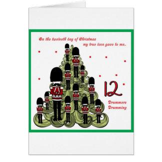 Cartes Jour de Twelveth de Noël