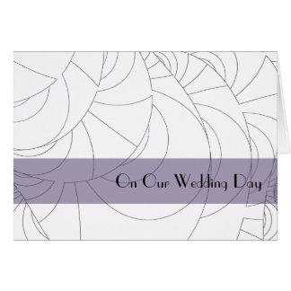 Cartes Jour du mariage géométrique de lavande