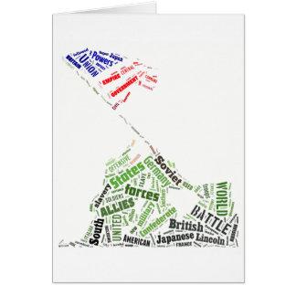 Cartes Jour du Souvenir (drapeau d'Iwo Jima augmentant)