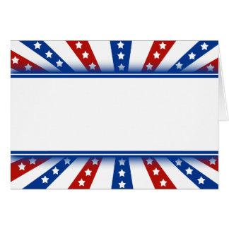 Cartes Jour du Souvenir étoilé d'éclat de drapeau