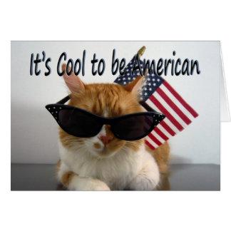 Cartes Jour du Souvenir heureux - chat frais avec le