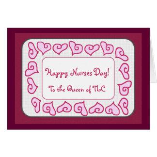 Cartes Jour heureux d'infirmières à la reine de la