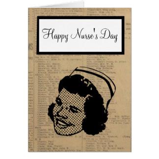 Cartes Jour heureux d'infirmières avec l'infirmière