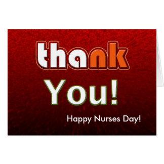 Cartes Jour heureux d'infirmières personnalisable