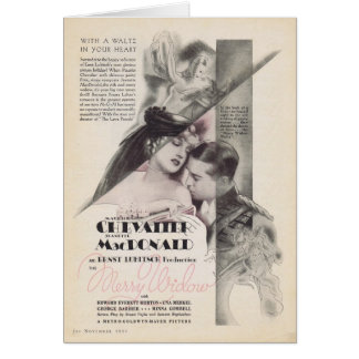 Cartes Joyeuse annonce 1934 de film de veuve de Jeanette