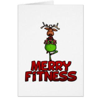 Cartes Joyeuse forme physique - yoga - renne dans la