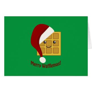 Cartes Joyeuse gaufre de Noël de Wafflemas