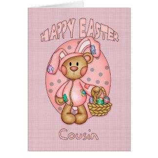 Cartes Joyeuses Pâques - cousin - ours de nounours mignon