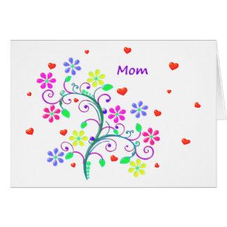 Cartes Joyeuses Pâques lumineuses - florales, remous et