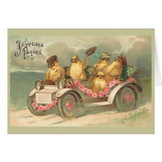 Cartes Joyeuses Pâques Pâques vintage mignonne