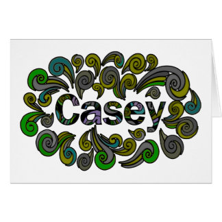 Cartes Joyeuses Pâques tourbillonnantes pour Casey