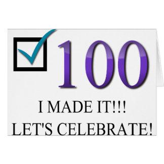 Cartes Joyeux 100th anniversaire