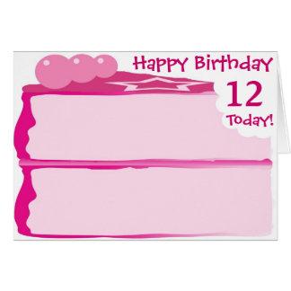 Cartes Joyeux 12ème anniversaire