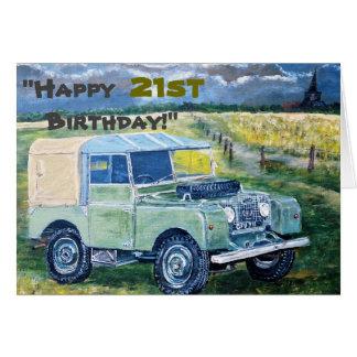 """Cartes """"Joyeux 21ème anniversaire ! """""""
