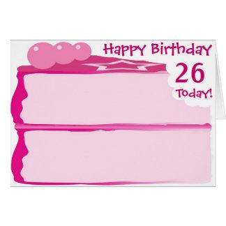 Cartes Joyeux 26ème anniversaire