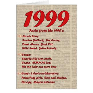 Cartes Joyeux anniversaire 1999 ans des années 90 90s de