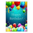 Cartes Joyeux anniversaire - ballons colorés par bleu -