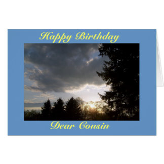 Cartes Joyeux anniversaire, cher cousin
