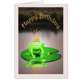 Cartes Joyeux anniversaire, couronne de port de
