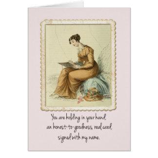 Cartes Joyeux anniversaire d'Ackerman de femme vintage de