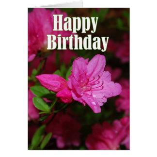 Cartes Joyeux anniversaire d'azalée rose