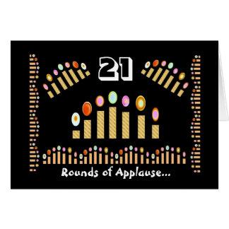 Cartes Joyeux anniversaire de 21 salves