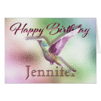 Cartes Joyeux anniversaire de colibri