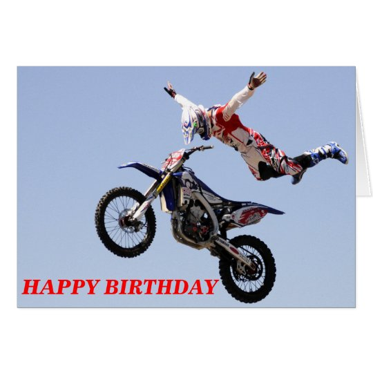 cartes joyeux anniversaire de motocross. Black Bedroom Furniture Sets. Home Design Ideas