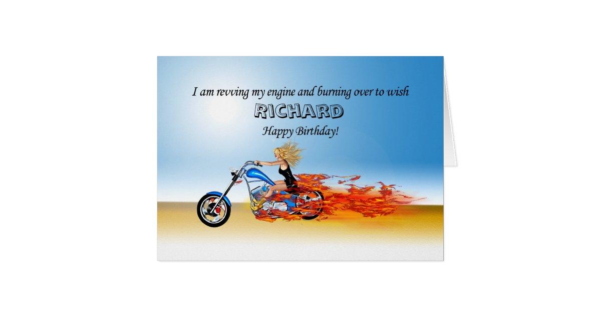 cartes joyeux anniversaire de personnaliser avec une moto. Black Bedroom Furniture Sets. Home Design Ideas