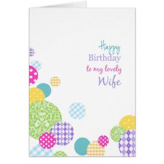Cartes Joyeux anniversaire de points colorés à ma belle