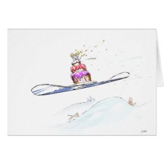 Cartes Joyeux anniversaire de snowboarding