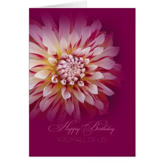 Cartes Joyeux anniversaire de tous les nous carte/dahlia