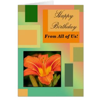 Cartes Joyeux anniversaire de tous les nous, pastels