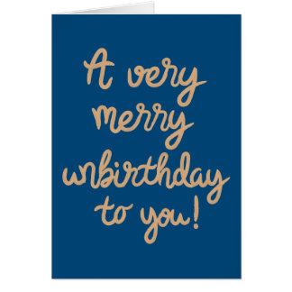 Cartes Joyeux anniversaire d'Unbirthday