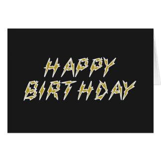 Cartes Joyeux anniversaire électrique