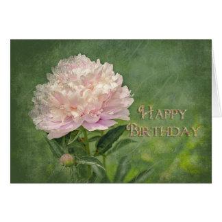 Cartes Joyeux anniversaire - élégance rose de pivoine