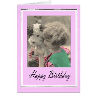 Cartes joyeux anniversaire - enfant vintage
