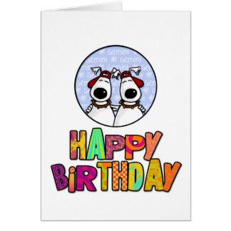 Cartes Joyeux anniversaire - Gémeaux