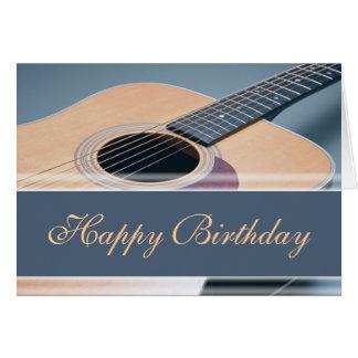 Cartes Joyeux anniversaire - guitare acoustique