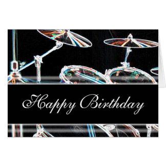 Cartes Joyeux anniversaire - kit de tambour