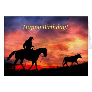 Cartes Joyeux anniversaire occidental de l'autre côté des