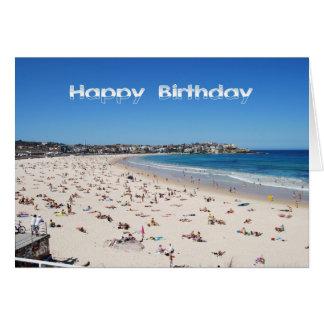 Cartes Joyeux anniversaire, plage de Bondi, Sydney,