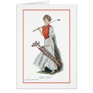 Cartes Joyeux anniversaire pour un golfeur de femme