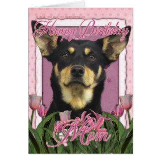 Cartes Joyeux anniversaire - tulipes roses - Kelpie