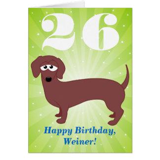 Cartes Joyeux anniversaire Weiner