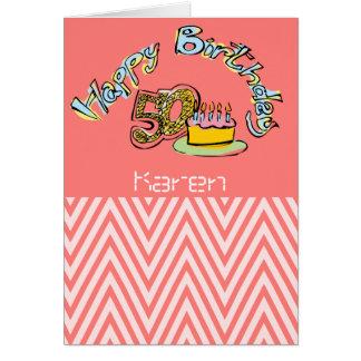 Cartes Joyeux cinquantième anniversaire