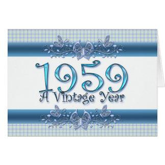 Cartes Joyeux cinquantième anniversaire 1959 une année