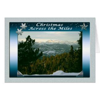 Cartes Joyeux Noël à travers les milles